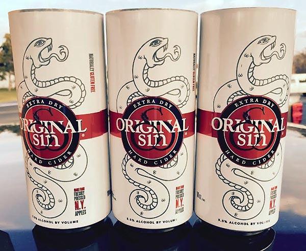 Original Sin Extra Dry Cider Cans