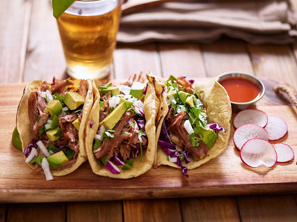Carnitas Tacos and Cider